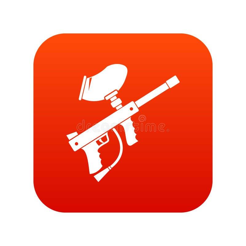 Paintball markiera ikony cyfrowa czerwień ilustracji