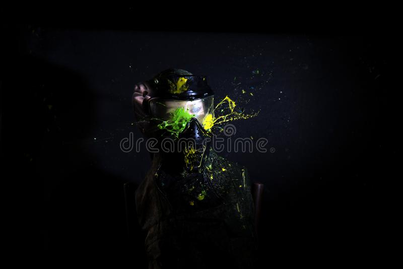 Paintball Mask zoomed in on royalty free stock photography