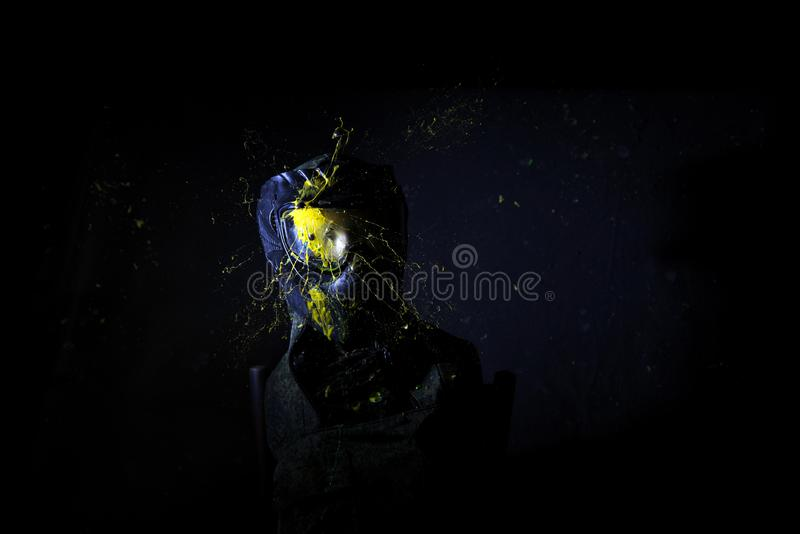 Paintball Mask zoomed in on royalty free stock photos