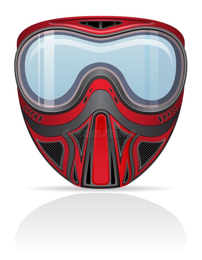 Paintball maskowa wektorowa ilustracja ilustracja wektor