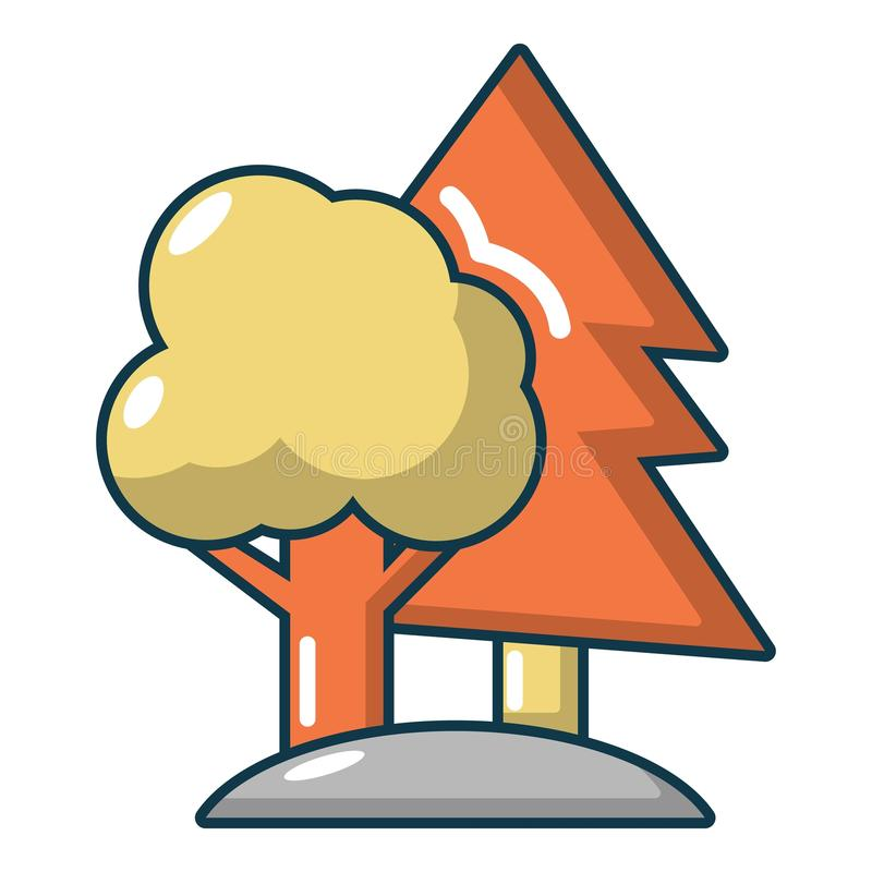 Paintball placu zabaw ikona, kreskówka styl royalty ilustracja