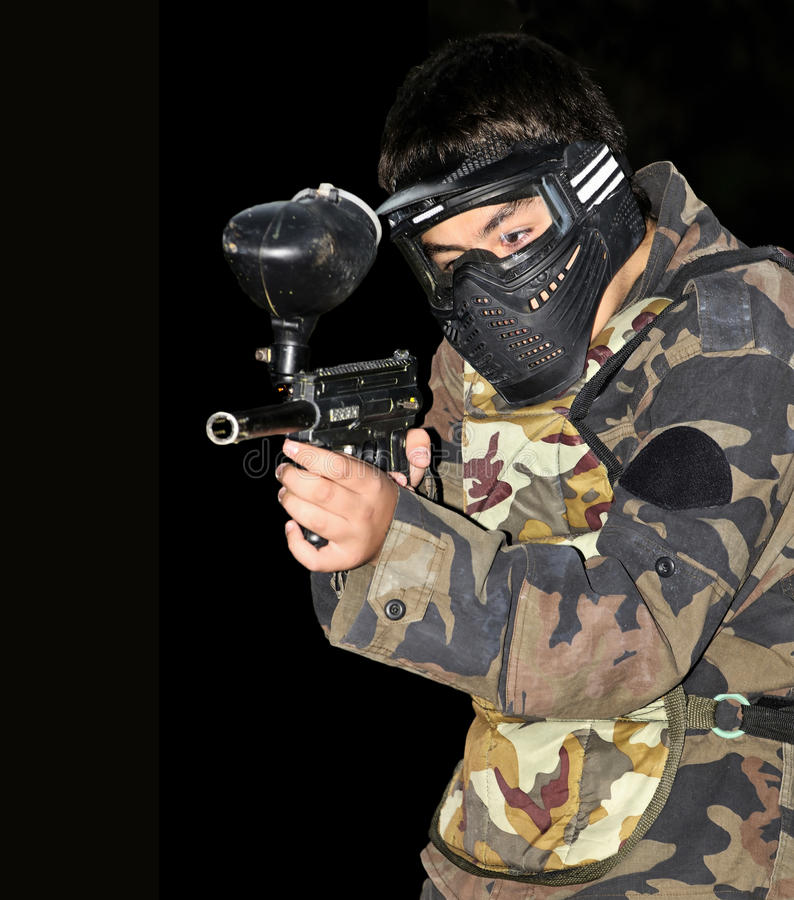 Free Paintball Player Stock Image - 22097111