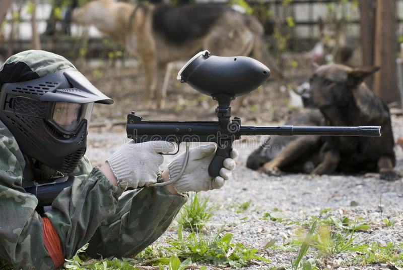 Download Paintball player stock image. Image of competition, game - 7238709