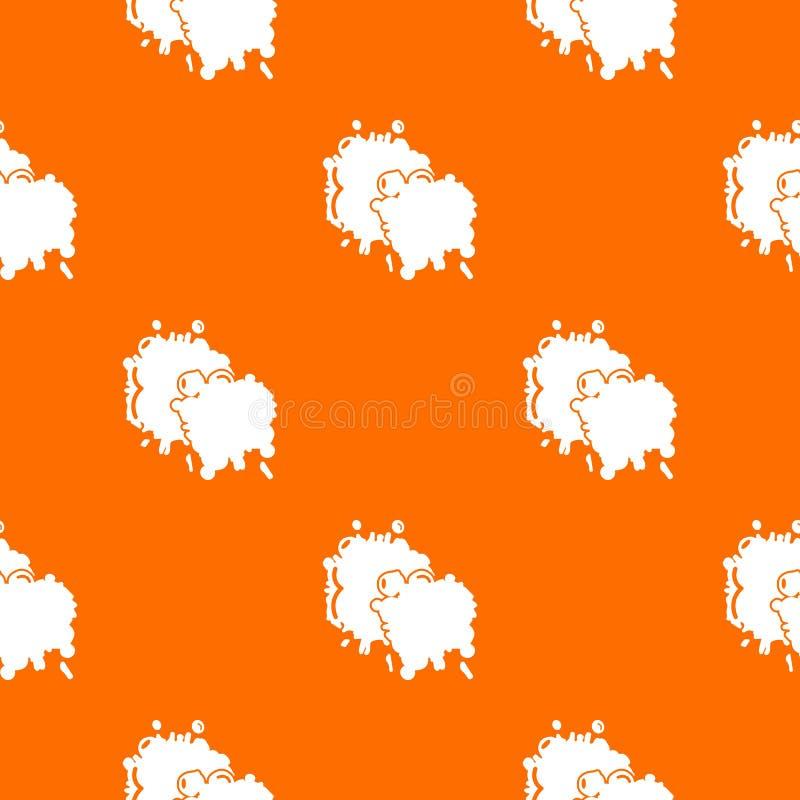 Paintball pluśnięcia kropli wzoru wektoru pomarańcze ilustracji