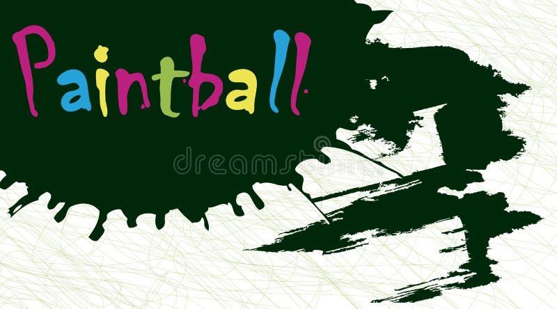 Paintball pluśnięcie ilustracji