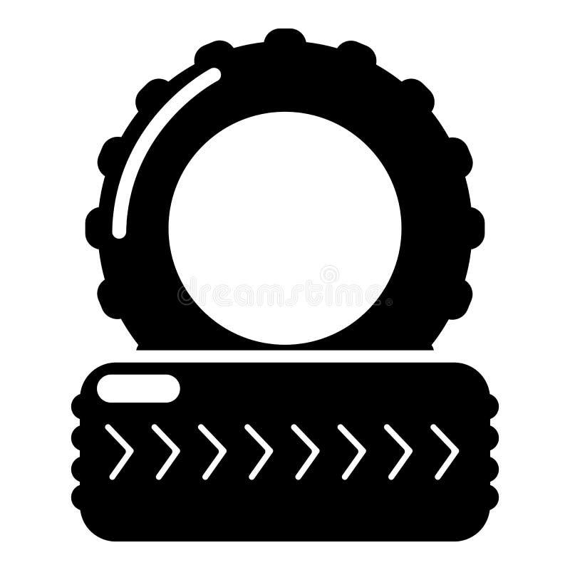 Paintball pola opony barykady ikona, prosty styl royalty ilustracja