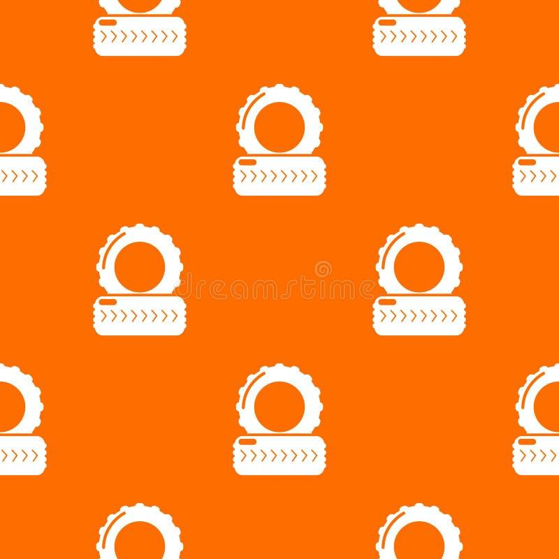 Paintball pola opony barykady wzoru wektoru pomarańcze royalty ilustracja
