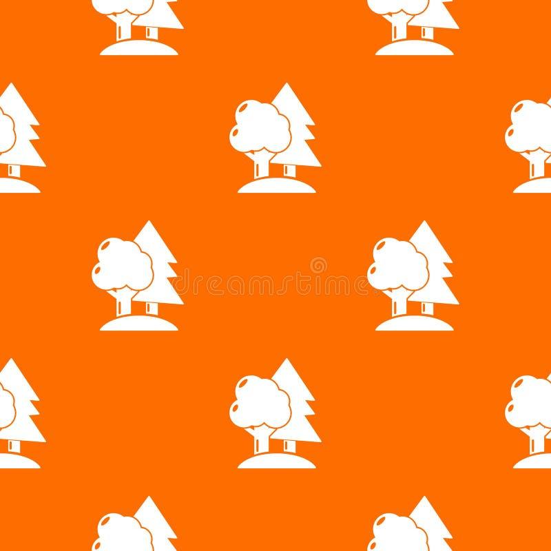 Paintball pola wzoru wektoru pomarańcze ilustracji