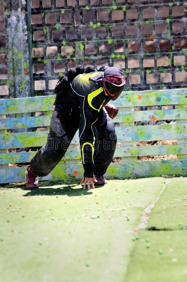 Paintball prêt image stock