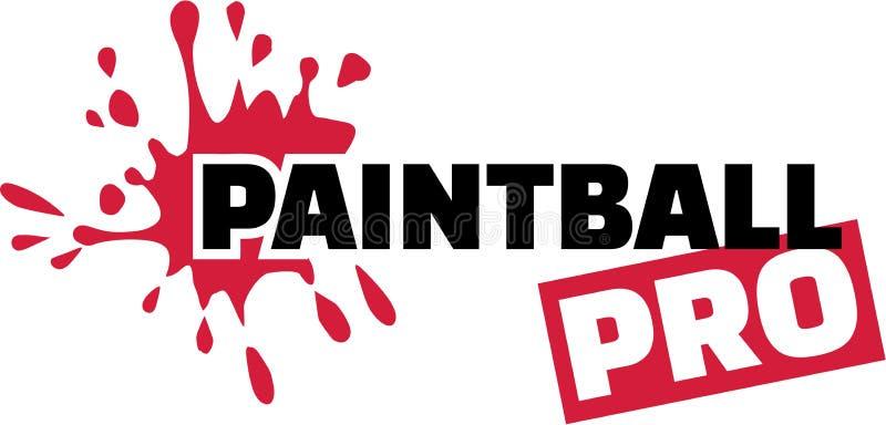 Paintball pro illustration libre de droits