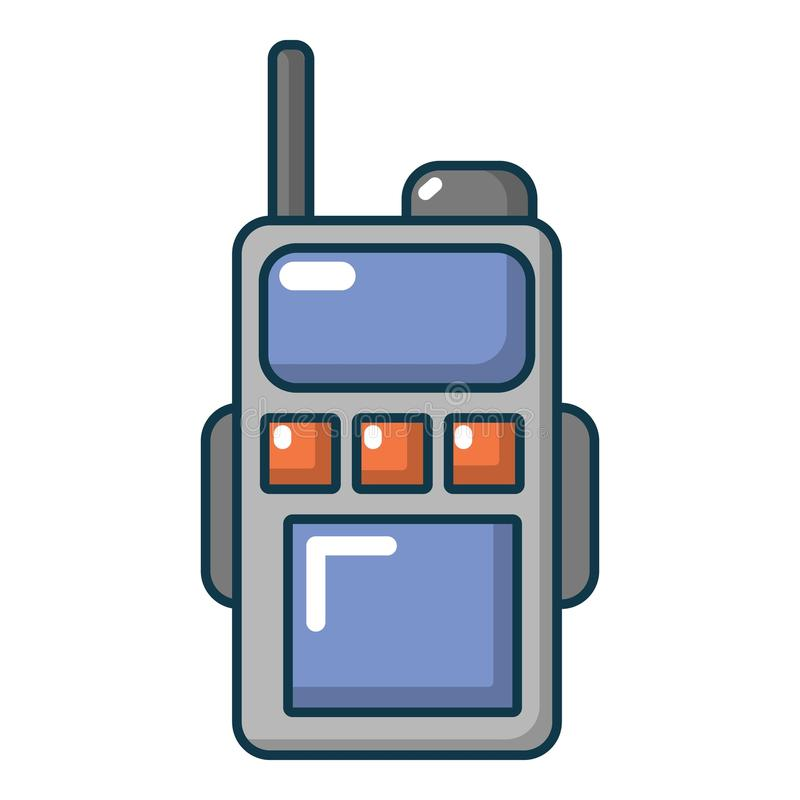 Paintball przenośnego radia ikona, kreskówka styl ilustracja wektor