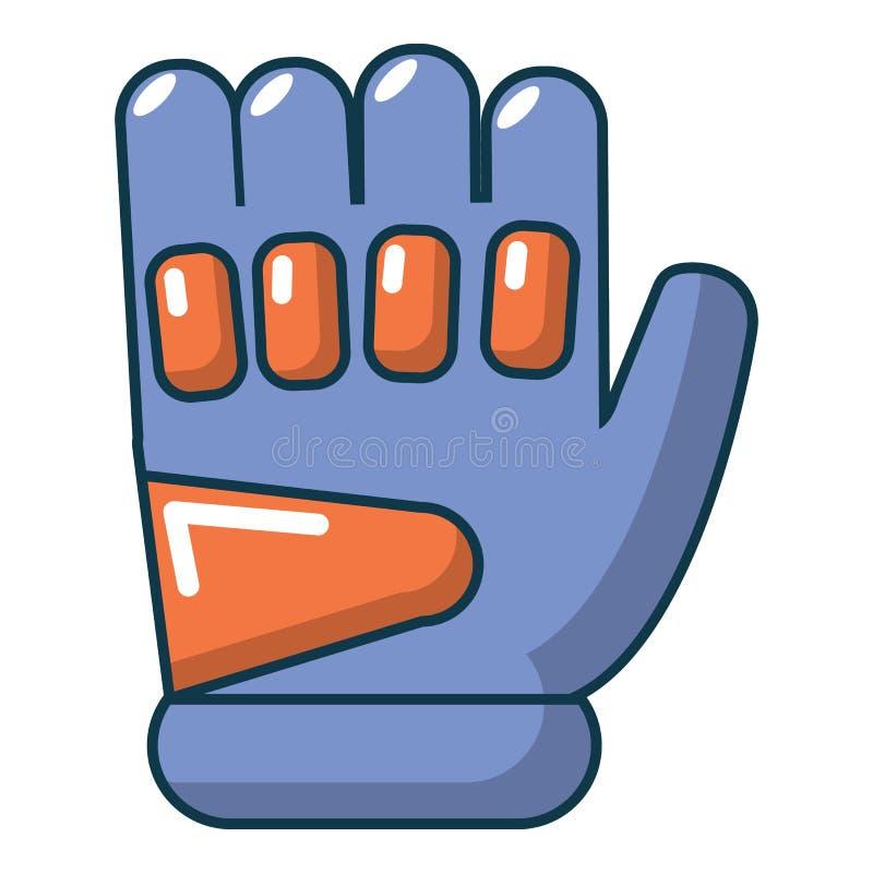 Paintball rękawiczkowa ikona, kreskówka styl ilustracji
