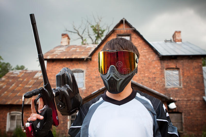 Download Paintball shooter stock image. Image of defense, game - 11112817
