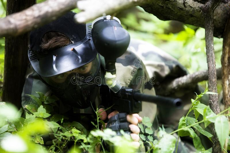 Download Paintball Sniper stock photo. Image of people, outdoors - 17030508