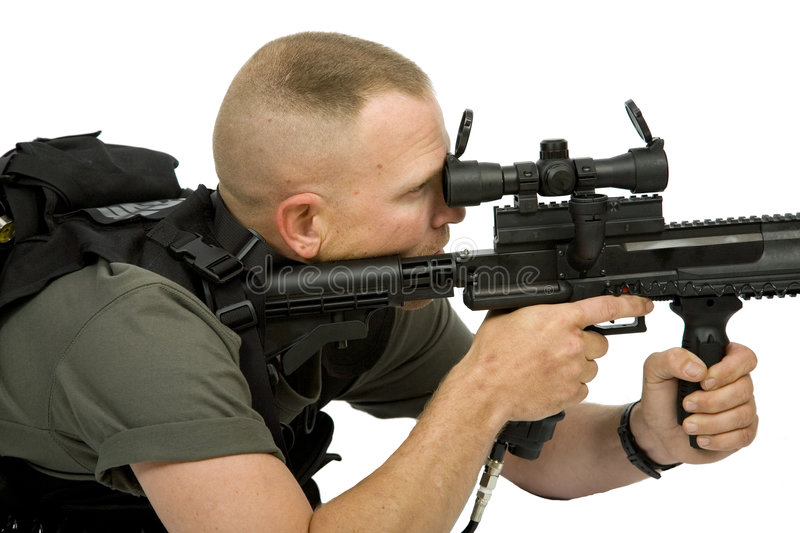 Download Paintball Sniper stock photo. Image of game, protection - 5327056