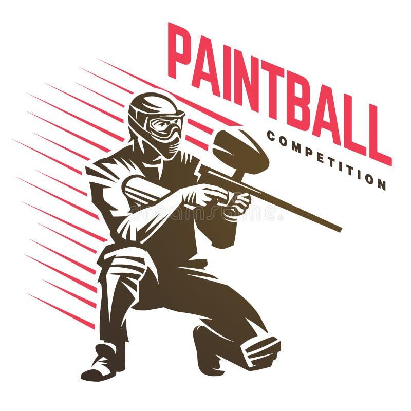 Paintball Sporta emblemat ilustracja wektor