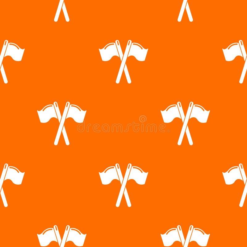 Paintball sporta flag deseniowa wektorowa pomarańcze ilustracji
