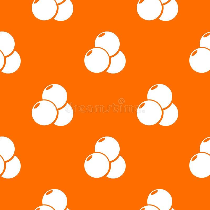 Paintball sporta piłek deseniowa wektorowa pomarańcze ilustracji