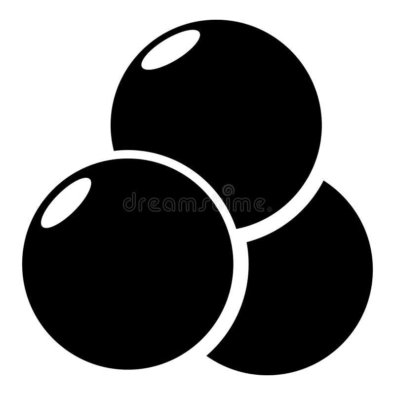 Paintball sporta piłek ikona, prosty styl royalty ilustracja