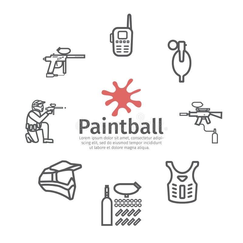 Paintball sztandar Wektor?w znaki dla sieci grafika royalty ilustracja