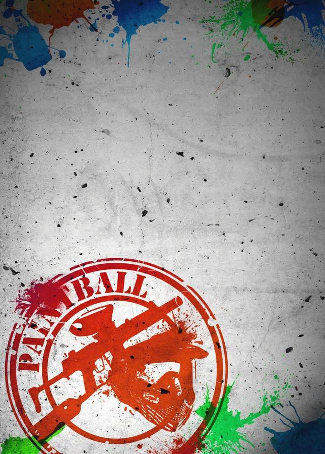 Paintball tło ilustracja wektor