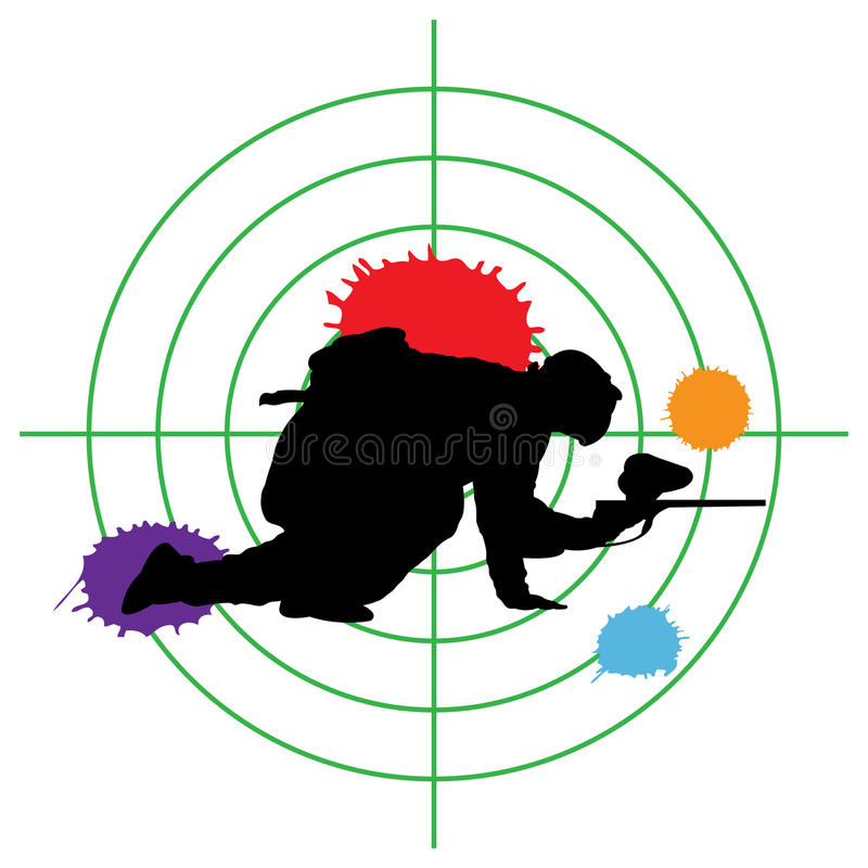 Paintball target stock illustration