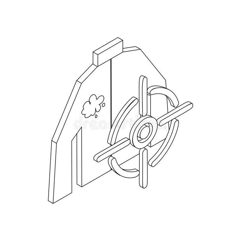 Paintball target icon, isometric 3d style stock illustration