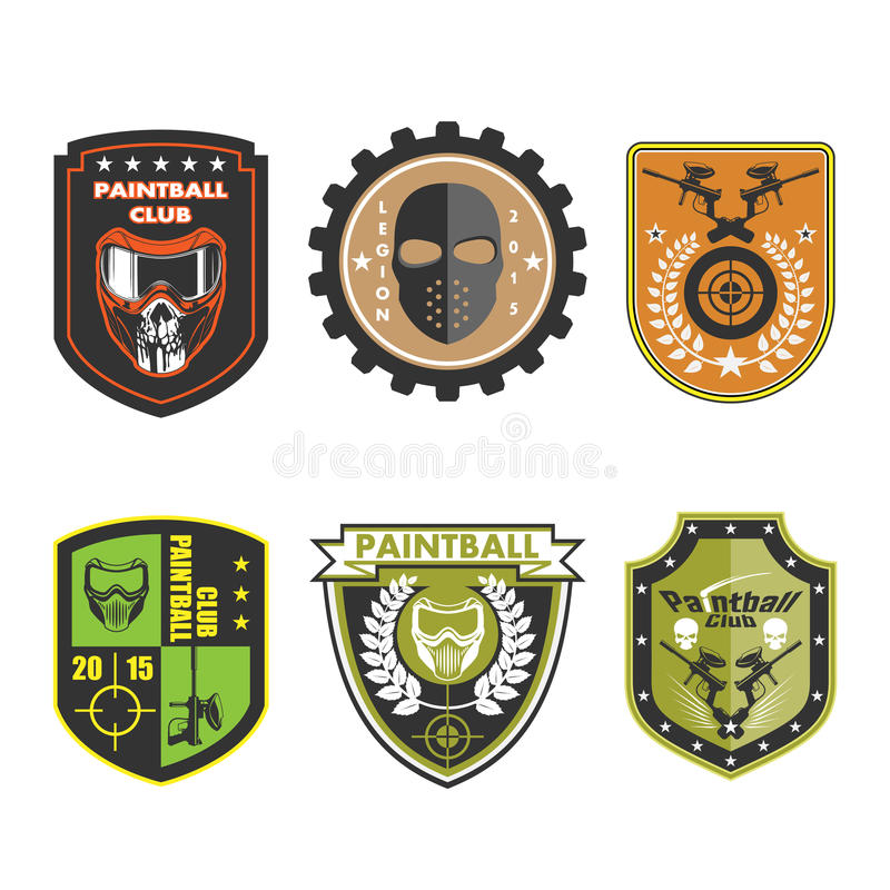 Paintball Team Logo Badge illustration libre de droits