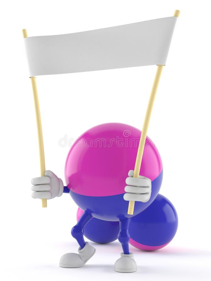 Paintball Toon avec la bannière vide illustration stock