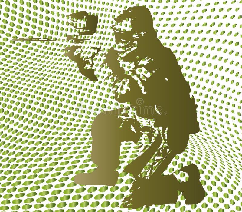 Paintball tramé illustration stock