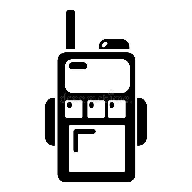 Paintball walkie talkie ikona, prosty styl ilustracja wektor