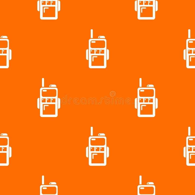 Paintball walkie talkie wzoru wektoru pomarańcze ilustracja wektor