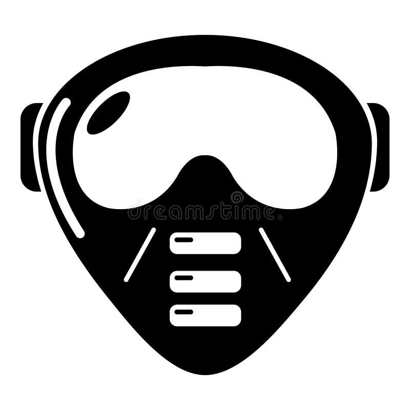 Paintball wyposażenia maskowa ikona, prosty styl ilustracja wektor
