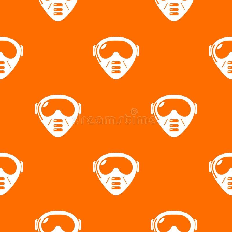 Paintball wyposażenia wzoru wektoru maskowa pomarańcze ilustracji