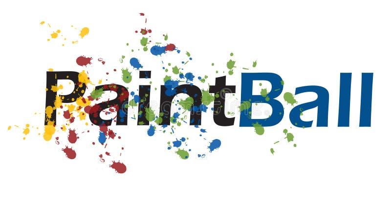 paintball1 库存例证