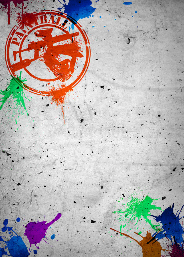 Paintballbakgrund stock illustrationer
