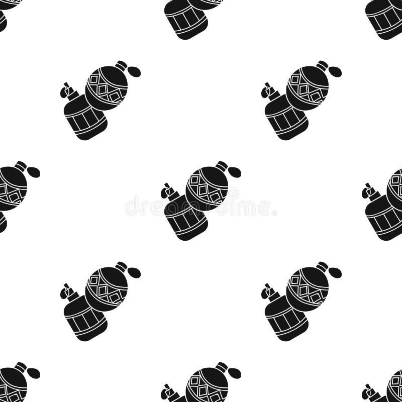 Paintballhandgranatenikone in der schwarzen Art lokalisiert auf weißem Hintergrund Paintballsymbolvorrat-Vektorillustration vektor abbildung