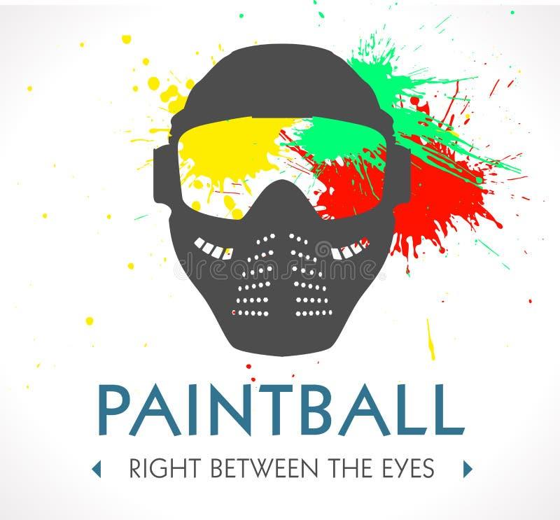 Paintballlogo royaltyfri illustrationer