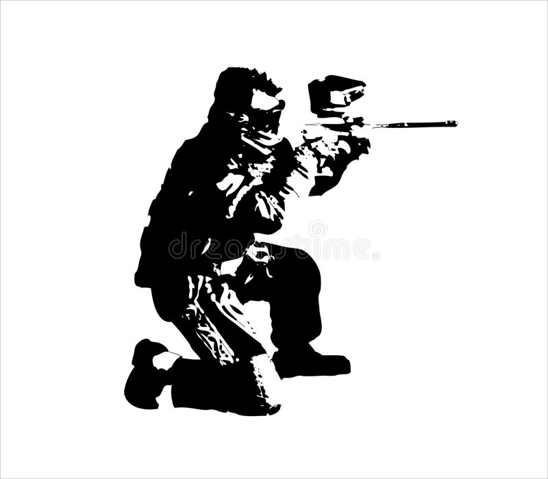 Paintballman illustration stock