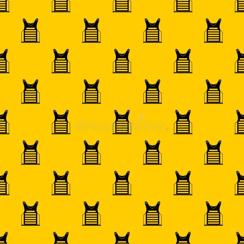 Paintballwesten-Mustervektor stock abbildung