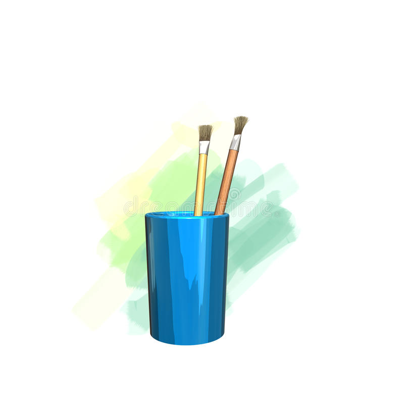 paintbrush stock illustrationer