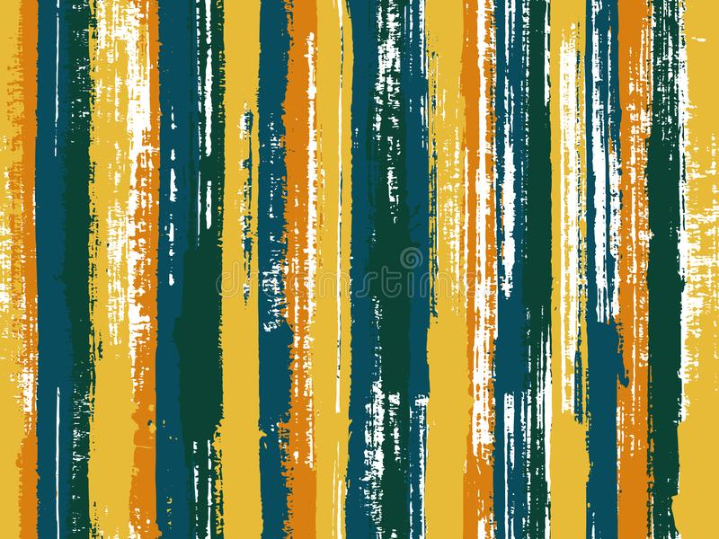 Paintbrush artistic lines fabric seamless print. Watercolor strips seamless vector background. Multicolor ethnic sample swatch design. Old style background for vector illustration