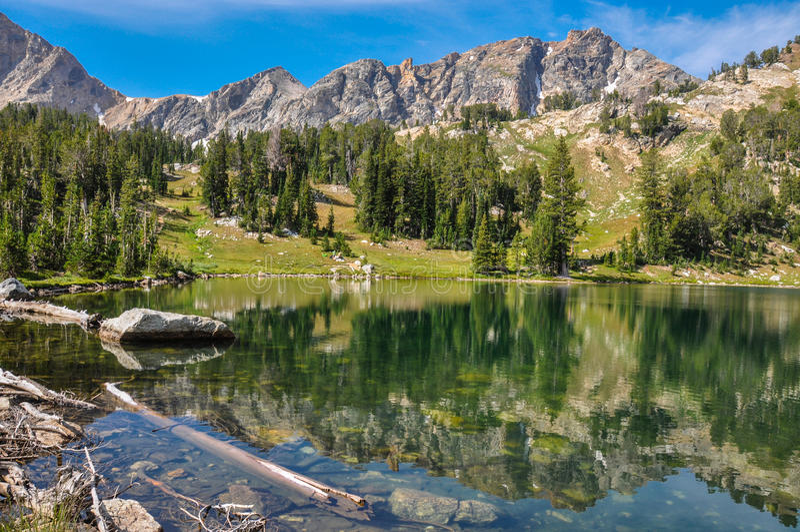 Paintbrush Canyon Trail in Grand Tetons National Park, Wyoming, royalty free stock image