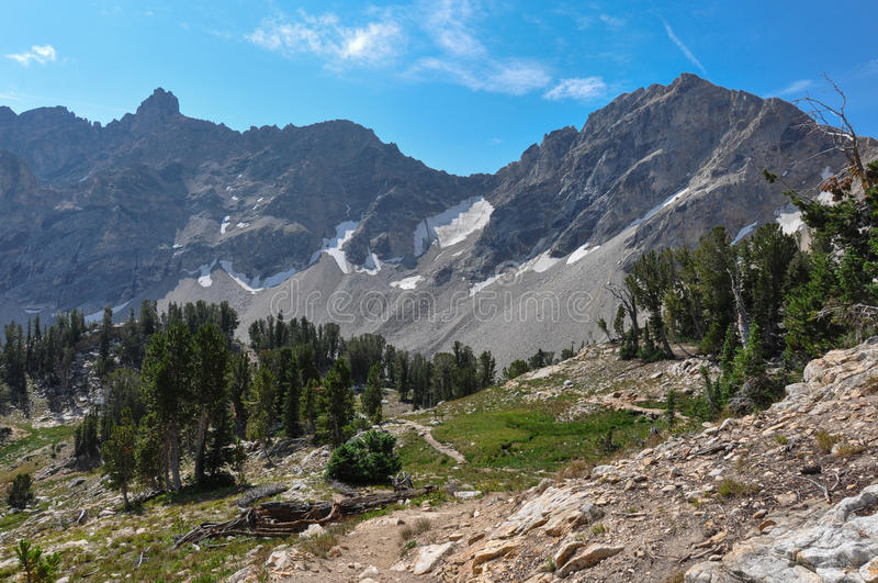 Paintbrush Canyon Trail in Grand Tetons National Park, Wyoming, royalty free stock photography