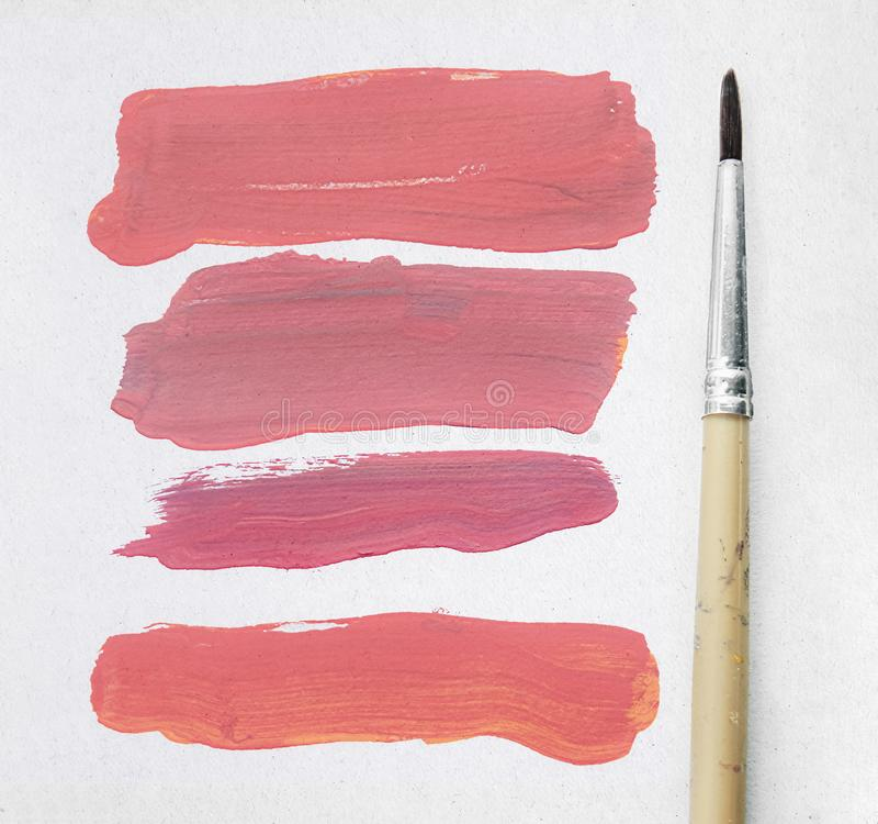 Paintbrush and color stripe royalty free stock photos