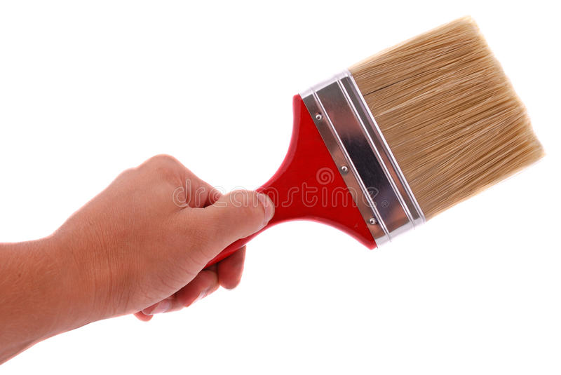 Paintbrush In Hand Royalty Free Stock Photo
