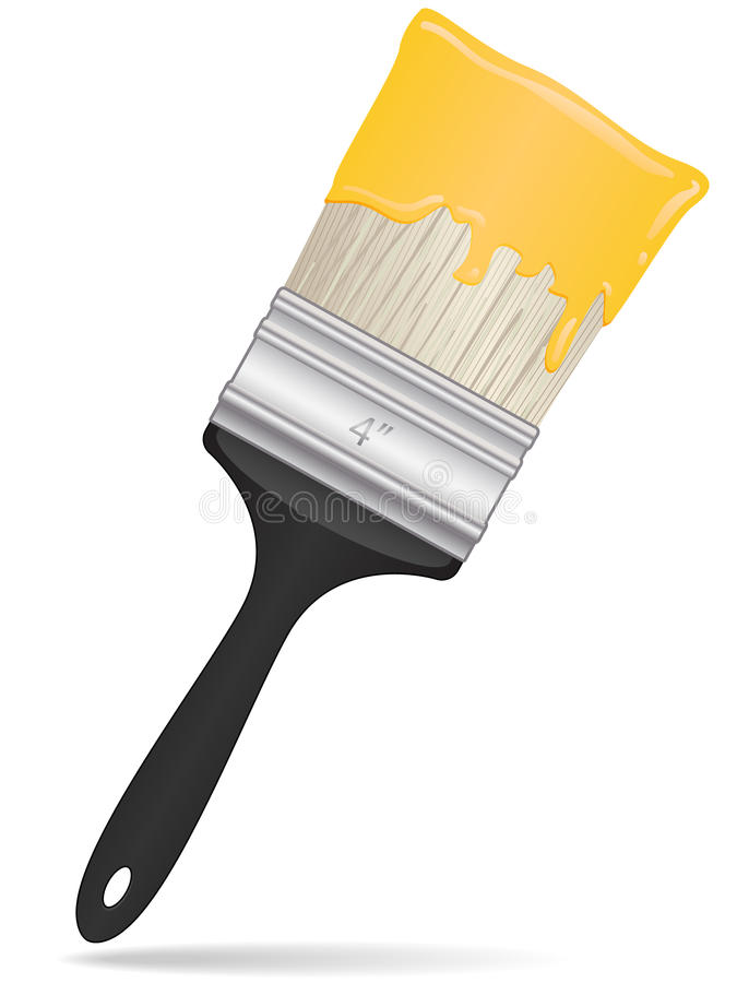 Download Paintbrush Icon stock vector. Image of dripping, emulsion - 17897902