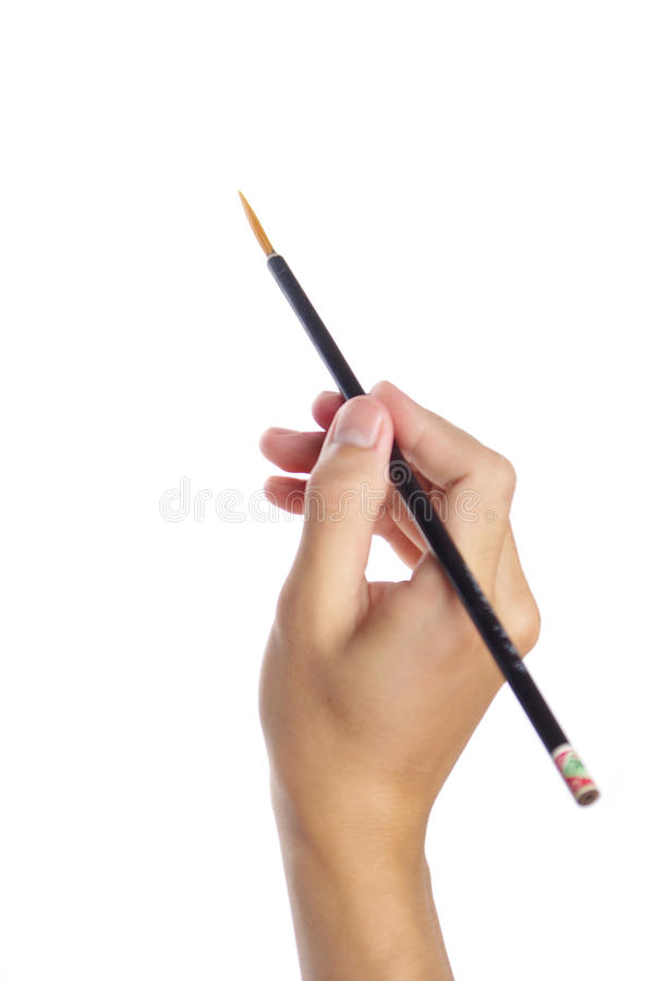 Free Paintbrush In Hand Stock Photography - 10611172