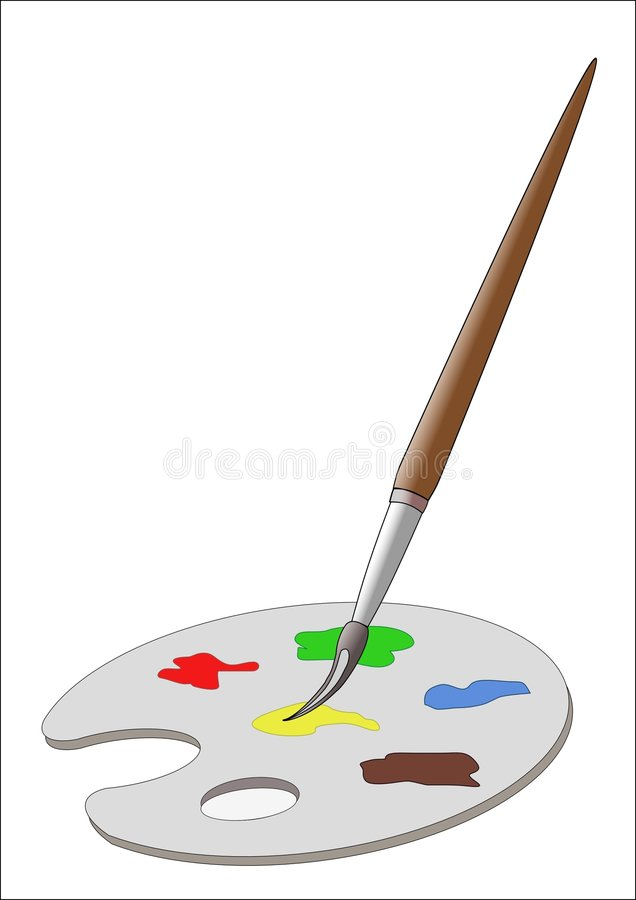Download Paintbrush And Pallet Royalty Free Stock Images - Image: 555209