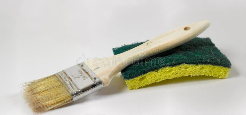 Download Paintbrush and sponge stock photo. Image of brush, decorating - 19660396